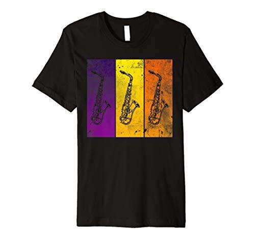 Saxophon Spieler T-Shirt Geschenk Saxophonist Tenor Bariton