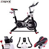 Esprit MOTIV-8 Exercise Spin Bike Fitness Cardio Weight Loss Machine (Red)