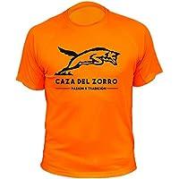 Camiseta de caza, Pasión y Tradición, Caza del Zorro (30134, Naranja, M)