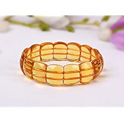 Discount4product Natural Lab Certified Citrine Gemstone Bracelet
