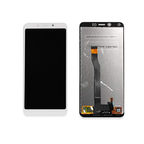 jiujinyi XIAOMI REDMI 6 / 6A Pantalla Táctil LCD Display Completa para Cristal de Digitalización Asamblea Repuestos (Blanco)