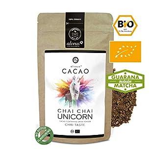 alveus® Cacao BIO Chai Chai Unicorn - Kakaomischung mit Kakaopulver, Ingwer, Zimt, Kardamom, grünem Tee, Nelke und Macawurzel, 125g Tüte