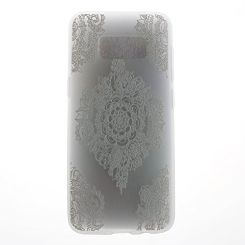 Ecoway TPU Funda para Samsung Galaxy S8 Plus, shell Milk Suave Parachoques Resistente a los arañazos Contraportada Funda de silicona Parachoques Carcasa Funda Bumper - flores de Datura