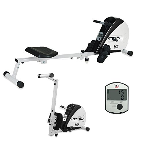 41GCgC2EnhL. SS500  - We R Sports Premium Rowing Machine Elastic Cord Resistance Body Tonner Home Rower Fitness Cardio Workout Weight Loss