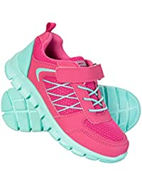 Mountain Warehouse Lightweight Junior Trainers - Mesh Upper Sneakers, High Traction Childrens Casual Shoes, Velcro Kids Trainers, EVA Footbed - Ideal For Boys & Girls