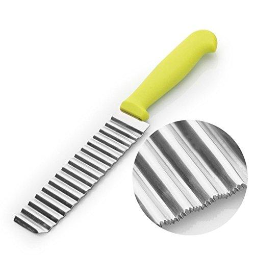 Cortador de patatas fritas de acero inoxidable de corte ondulado