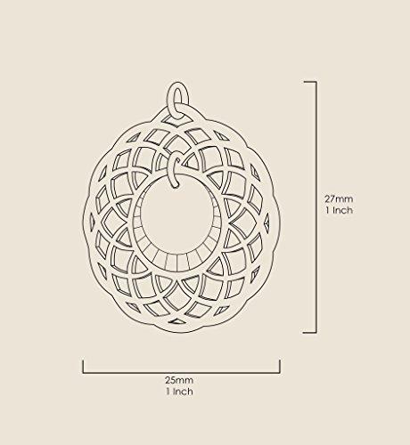 Pendentif Mandala - Bijoux Romantique plaqué Or avec I Love You To The Moon and Back inscrit en Or 24ct sur un Zircon Cubique Rond, Chaine en Or Laminé 45cm - Bijoux Nano Transparent