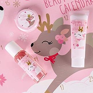 Accentra – Calendario de Adviento invernal, para niñas, con 24 productos de baño, cuidado corporal y accesorios para una época de Adviento con variedad y cuidados