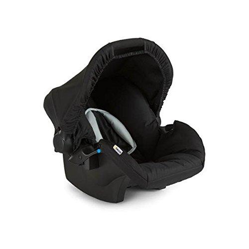 Hauck Zero Plus Babyschale, 0 +, ECE Gruppen 0 ab Geburt bis 13 kg nutzbar, leicht, Seitenaufprallschutz, schwarz grau (black)