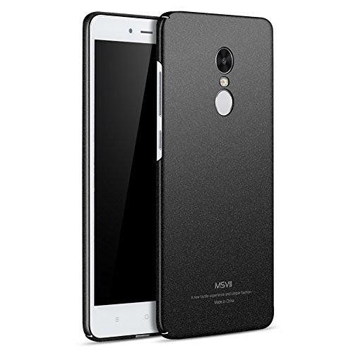 Xiaomi Redmi Note 4X Hülle, MSVII® PC Kunststoff Härte Hülle Schutzhülle Case Und Displayschutzfolie für Xiaomi Redmi Note 4X (Nicht mit Redmi Note 4 kompatibel) - Rose Gold JY30015 Schwarz