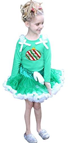 My 1st Christmas Kleid CANDY CANE grün L/S SHIRT grün weiß Rock Set-74bis 122 Gr. Größe L, grün (Candy Cane Tutu)