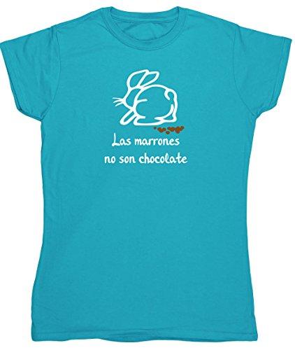 HippoWarehouse Las Marrones no son Chocolate camiseta manga corta ajustada para mujer