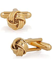 Mahi Gold Plated Entangled Design Cufflink for Mens and boys CL1100532G