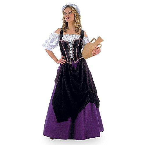 Damenkostüm Wirtin 4-teilig (Hemd-Mieder-Rock-Hut) - Gr. XL (Renaissance Rock & Hut)
