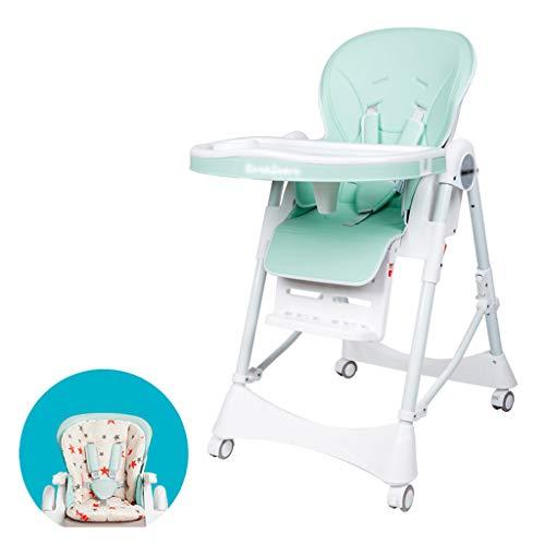 Kinderhochstuhl, Abnehmbare Platte Mit Bequemem Sitz Eat Sit Multifunktions-beweglicher Kindertischhocker Unisex in Pink & Blau & Grün für Zuhause für 0-3 Jahre (Farbe : A) -