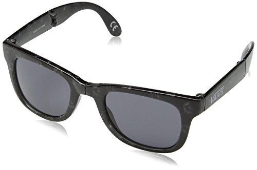 vans Men's Foldable Spicoli Shades Sunglasses, Black (Tonal Palm-Dark Smoke), One Size