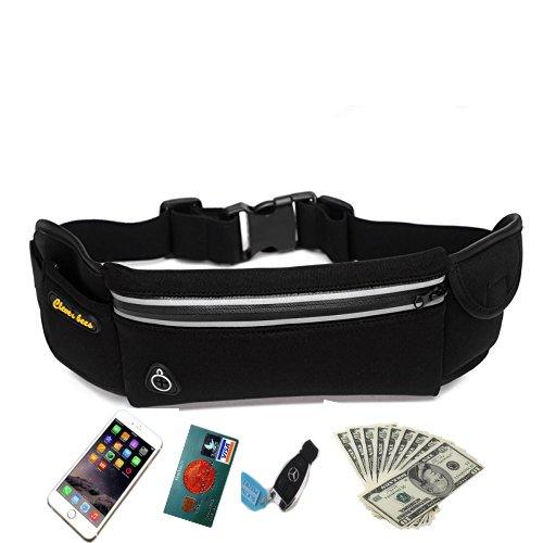 DREAMZE Laufgürtel, Workout Fanny Taille Pack Lauftasche für iPhone 6S Plus/6 Plus/6S/6, Samsung Galaxy, verstellbares Band für Männer und Frauen, Farbe, 1