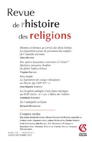 Revue de l'histoire des religions - Tome 229 (3/2012): Varia par Collectif