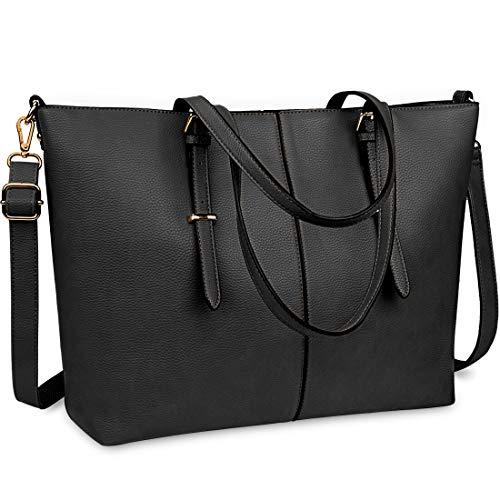 NUBILY Laptop Damen Handtasche 15 - Große Handtasche