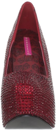 Pleaser Teeze-06R, Damen Pumps Ruby Red Satin RS