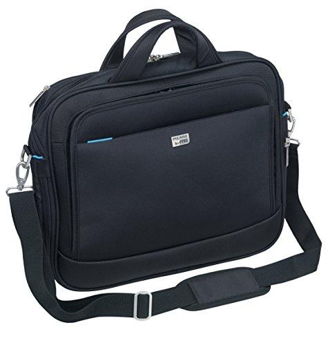 Erweiterbare Laptop-tasche (Pierre by ELBA 100402201 erweiterbare Laptoptasche für Notebooks bis 16 Zoll Original Line mit Zubehör-Fach, grauem Innenfutter und Trolley-Lasche, Schwarz)