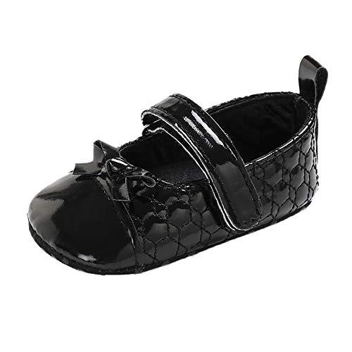 Chaussures Premiers Pas BéBé Fille Sneakers Doux Souple Bowknot Princesse, QinMM Dessinée Anti-Slip Antidérapant Masion Automne Hiver Semelle Souple Grinçant Baskets Sport Mocassins