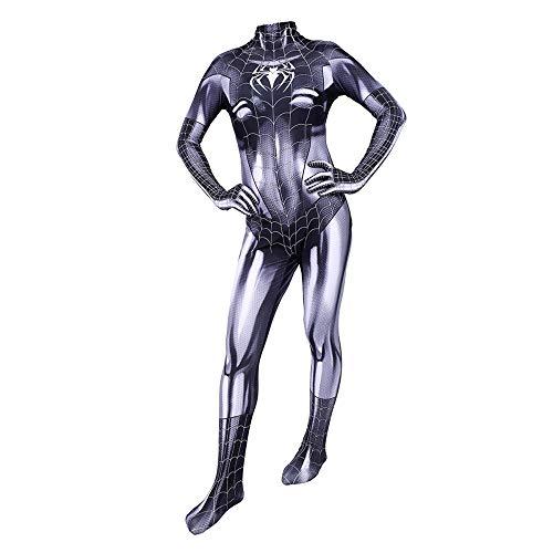 Kostüm Black Cat Kids - CVFDGETS Symbiote Black Cat Kostüm Onesies Halloween Kleidung Requisiten Sport Hohe Elastische Strumpfhose Spiderman Cosplay Kostüm,Child-M