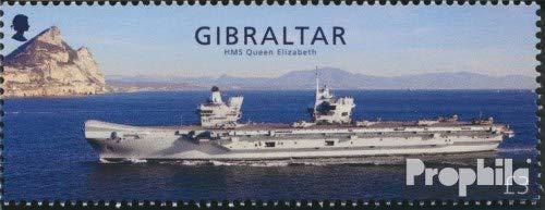 Prophila Collection Gibraltar 1855 (kompl.Ausg.) 2018 HMS Queen Elizabeth (Briefmarken für Sammler) Militär