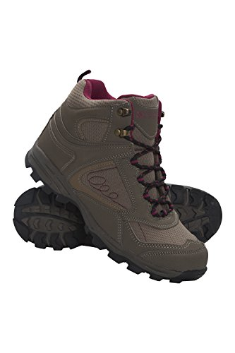Mountain Warehouse Botas cómodas Mcleod para mujer - Botines transpirables, botas de montaña resistentes, zapatos para caminar ligeros y acolchados Marrón 39