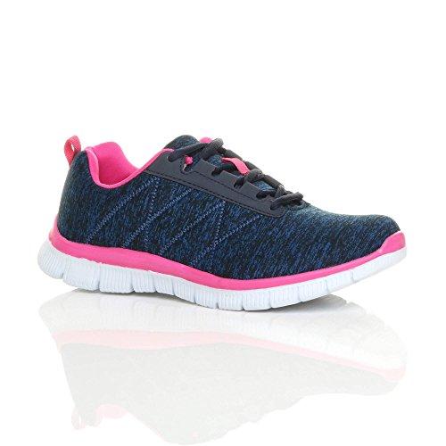 detailed look 4467e 62034 Ajvani Womens Ladies lace up Comfort Memory Foam Trainers Sneakers  Plimsolls Size 6 39