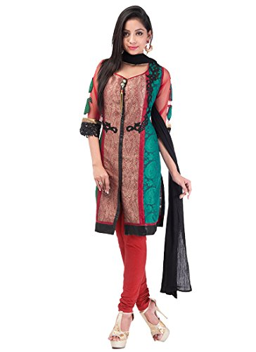 Fashionista Chic Maroon Jacquard Churidar Suit Size :40 Color : Maroon