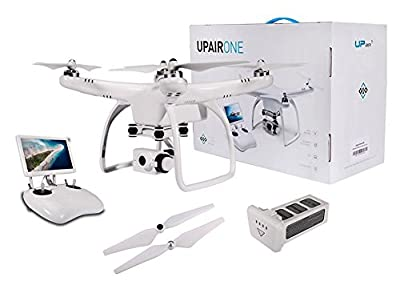 UPair One Drone with 2.7K HD Camera, 5.8G FPV Monitor Transmit Live Video, 2.4G Remote Controller, GPS Auto Return Function, a key to Return, Beginners Quadcopter