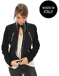 dd466bf9c1a7c6 Made In Italy - Blu / Giacche e cappotti / Donna ... - Amazon.it