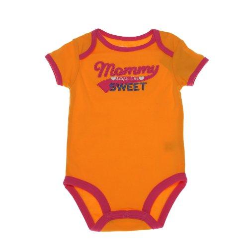 Carter's Body für Mädchen Sommer Spieler Unterwäsche girl onesie (50/56, orange) (Carters Body Onesies)