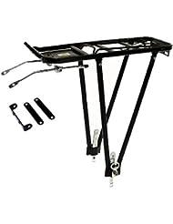 """Moma - Portabultos aluminio anodizado negro, válido para bicicletas con ruedas de 24"""" a 29"""""""