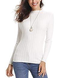 665ebae343 Abollria Womens Turtle Neck Long Sleeve Chunky Knit Ribbed Sweater Jumper  Knitwear Top