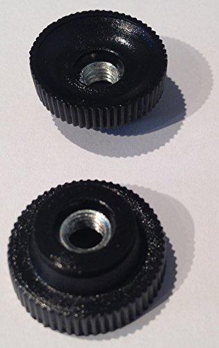Rändelmutter M5 Kunststoff D=20mm, Stahlgewinde verzinkt, 4 Stück