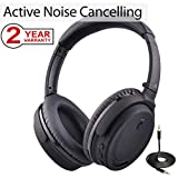 Avantree Active Noise Cancelling Bluetooth 4.1 Headphones with Mic, Wireless/Wired Super Light Comfortable