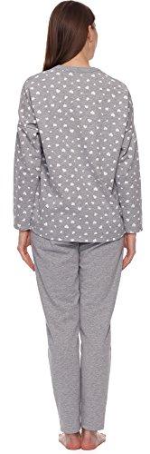 Italian Fashion IF Damen Schlafanzug Aster-2 0223 Melange