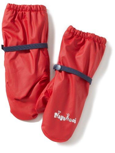 Playshoes Kinder wasserdichte Handschuhe mit Fleece-Futter, Rot (Rot ), 86-104