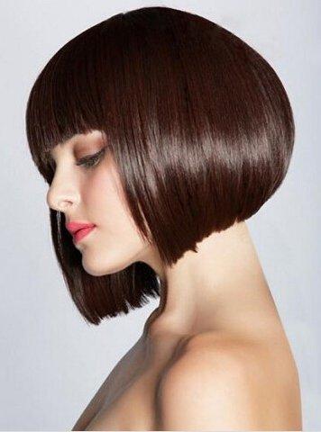 minisky Femme Elegante perruque cheveux Wigs femelle Bob lisse Carnaval perruque courte comme en cheveux Top Koffee