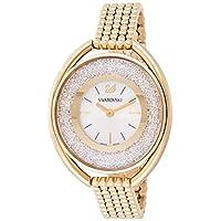 Swarovski Crystalline Women's Silver Dial Gold-Tone Stainless Steel Watch - 5200339