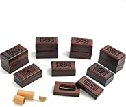 Gift Lounge 12pcs Incense Burners with 20 pcs Oud each, Size 7cm- Dark brown