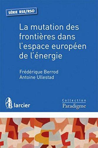 La mutation des frontières dans l'espace européen de l'énergie par Frédérique Berrod