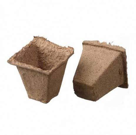 Pots carrés en tourbe pour semis