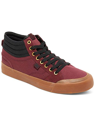 Dc Shoes Evan Smith Hi Zapatillas, Color: Burgundy, Size: 44 EU (10.5 US / 9.5 UK)