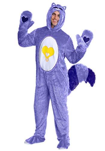 Care Bears & Cousins Adult Bright Heart Raccoon Fancy Dress Costume Medium