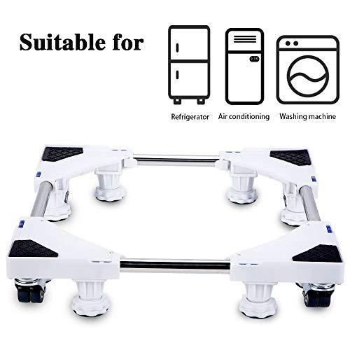 Smonter multi-funzionale mobili base regolabile con 4× 2bloccaggio gomma ruote girevoli e 8Strong piedi mobile case roller Dolly per lavatrice, asciugatrice e frigorifero