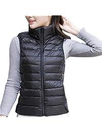 uirend Ropa Mujer Ropa de Abrigo Chalecos - Abrigos Chaquetas Ligero Empaquetable Puffer Acolchado Cuerpo Más
