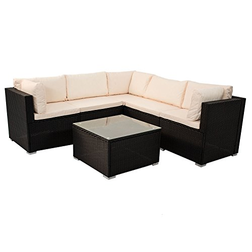 Polyrattan Rattan Lounge Gruppe Loungeset Gartenmöbel Sitzgruppe ...